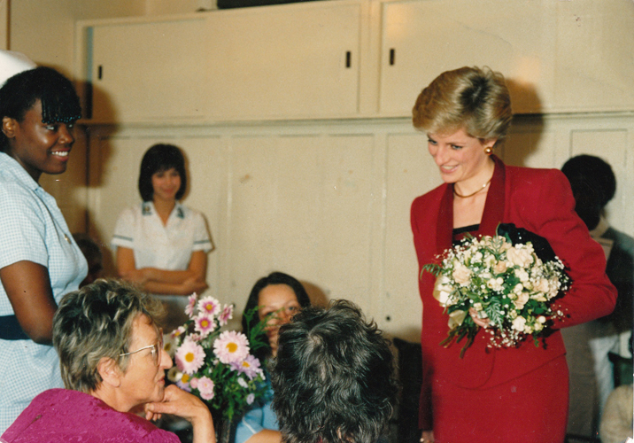 Lady Diana at HIV Station